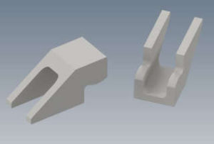 3D Render of Buckstay Clips