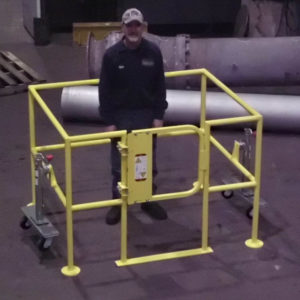 Movable Safety Barrier - Man in Barrier