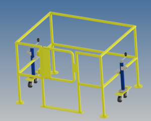 Movable Safety Barrier - 3D Render