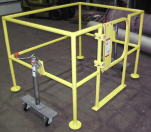 Movable Safety Barrier - Side View