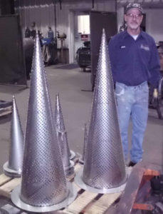 Large Pipe Strainers - Chris for Scale